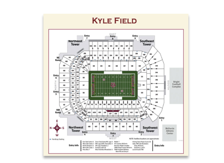 Kyle Field on lp field map, kyle zoning map, coca-cola field map, cashman field map, sports authority field at mile high map, tropicana field map, progressive field map, ford center map, target field map, hometown kyle map, parkview field map, victory field map, lincoln financial field map, fedex field map, u.s. cellular field map, durham bulls athletic park map, centurylink field map, faurot field map, soldier field map,