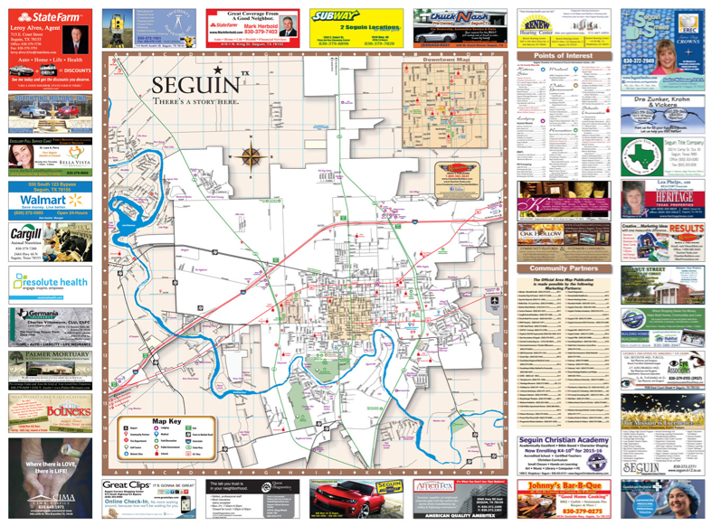 City Of Seguin Map